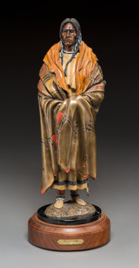 Michael Westergard (American, 20th Century) Traditions Bronze with polychrome 15 inches (38.1 cm)