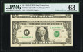 Error Notes:Foldovers, Fr. 1913-L $1 1985 Federal Reserve Note. PMG Choice Uncirculated63.. ...