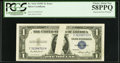 Error Notes:Obstruction Errors, Obstruction Error. Fr. 1614 $1 1935E Silver Certificate. PCGSChoice About New 58PPQ.. ...