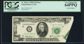 Error Notes:Foldovers, Fr. 2064-L $20 1950E Federal Reserve Note. PCGS Very Choice New64PPQ.. ...