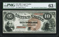 Large Size:Legal Tender Notes, Fr. 102 $10 1880 Legal Tender PMG Choice Uncirculated 63 EPQ.. ...