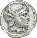 Ancients:Greek, Ancients: SELEUCID KINGDOM. Seleucus I Nicator (312-281 BC). ARtetradrachm (26mm, 17.08 gm, 12h). NGC Choice AU a...