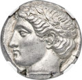 Ancients:Greek, Ancients: THRACE. Apollonia Pontica. Ca. 400-350 BC. AR tetradrachm (23mm, 17.15 gm, 6h). NGC MS ★ 5/5 - 5/5, Fine Style....