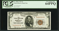 Fr. 1850-I $5 1929 Federal Reserve Bank Note. PCGS Very Choice New 64PPQ