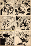 Original Comic Art:Panel Pages, John Buscema and Fred Kida Captain Britain #25 Story Page 5Original Art (Marvel UK, 1977)....