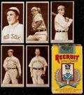 Baseball Cards:Lots, 1912 T207 Recruit baseball cards (5) Plus Late 1920's RecruitComplete Pack. ...