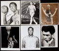 Basketball Collectibles:Photos, Vintage 1960's Basketball Hall Of Famers Original/Wire Photos (6) With Two Rookie Alcindor. ...