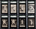 Baseball Cards:Lots, 1946-50 Remar, Smith, Union Oil SGC-Graded Group (8) With Stengel & Martin. ...