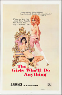 """The Girls Who'll Do Anything & Others Lot (Group 1, 1976). One Sheets (5) (27"""" X 41"""") Robert McGinnis Artw..."""