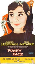 """Movie Posters:Romance, Funny Face (Paramount, 1957). Standee (32.5"""" X 58.25"""").. ..."""