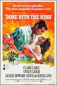 """Gone with the Wind (MGM, R-1974). One Sheet (27"""" X 41""""). Howard Terpning Artwork. Academy Award Winners"""
