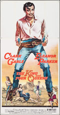 "Movie Posters:Western, The King and Four Queens (United Artists, 1957). Three Sheet (41"" X 79.25""). Western.. ..."