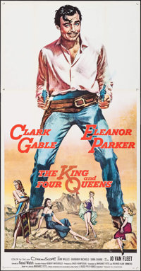 "The King and Four Queens (United Artists, 1957). Three Sheet (41"" X 79.25""). Western"