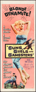 """Movie Posters:Crime, Guns, Girls and Gangsters (United Artists, 1959). Insert (14"""" X36""""). Crime.. ..."""