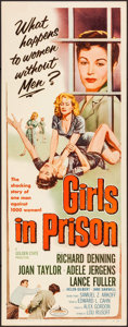 "Movie Posters:Bad Girl, Girls in Prison (American International, 1956). Insert (14"" X 36""). Bad Girl.. ..."
