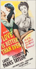 """Movie Posters:Romance, Love is Better Than Ever (MGM, 1952). Three Sheet (41"""" X 79""""). Romance.. ..."""