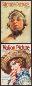 "Movie Posters:Miscellaneous, Motion Picture Magazine (M.P. Publishing Co., 1920 & 1928).Fine+. Magazines (2) (Multiple Pages, 8.5"" X 11.75""). Miscellane...(Total: 2 Items)"