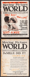 """Movie Posters:Miscellaneous, Moving Picture World (Chalmers Publishing, 1923 & 1925). Magazines (2) (Multiple Pages, 9.25"""" X 12""""). Miscellaneous.. ... (Total: 2 Items)"""