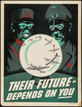 "Movie Posters:War, World War II Propaganda (Douglas Aircraft, 1940s). Poster No. 866(17"" X 22"") ""Their Future Depends on You!"" War.. ..."