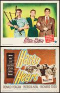"Movie Posters:War, Hasty Heart (Warner Brothers, 1950). Title Lobby Card & LobbyCard (11"" X 14""). War.. ... (Total: 2 Items)"