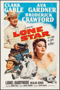 "Movie Posters:Western, Lone Star (MGM, 1952). One Sheet (27"" X 41""). Western.. ..."