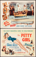 "Movie Posters:Comedy, The Petty Girl (Columbia, 1950). Title Lobby Card & Lobby Card (11"" X 14"") George Petty Artwork. Comedy.. ... (Total: 2 Items)"