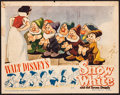 "Movie Posters:Animation, Snow White and the Seven Dwarfs (RKO, R-1943). Lobby Card (11"" X 14""). Animation.. ..."