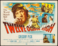 "Twelve O'Clock High (20th Century Fox, 1949). Title Lobby Card (11"" X 14""). War"