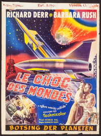 "When Worlds Collide (Paramount, 1951). Trimmed Belgian (14"" X 18.5""). Science Fiction"