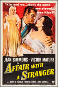 "Movie Posters:Romance, Affair with a Stranger (RKO, 1953). One Sheet (27"" X 41""). Romance.. ..."
