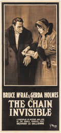 "Movie Posters:Drama, The Chain Invisible (Equitable Pictures, 1916). Three Sheet (40"" X 88""). Drama.. ..."
