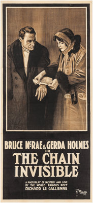 """The Chain Invisible (Equitable Pictures, 1916). Three Sheet (40"""" X 88""""). Drama"""