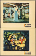 "Movie Posters:Animation, Pinocchio (RKO, 1940). Trimmed Lobby Cards (2) (10.75"" X 13.5""). Animation.. ... (Total: 2 Items)"