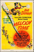 "Movie Posters:Animation, Melody Time (RKO, 1948) Folded, Fine/Very Fine. One Sheet (27"" X 41""). Animation...."