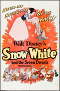 "Movie Posters:Animation, Snow White and the Seven Dwarfs (Buena Vista, R-1958). One Sheet (27"" X 41""). Animation.. ..."