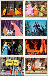 "Sleeping Beauty (Buena Vista, 1959). International Lobby Card Set of 8 & International Lobby Cards (5) (11"" X 1..."
