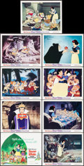 "Movie Posters:Animation, Snow White and the Seven Dwarfs (Buena Vista, R-1975). Lobby CardSet of 9 (11"" X 14""). Animation.. ... (Total: 9 Items)"