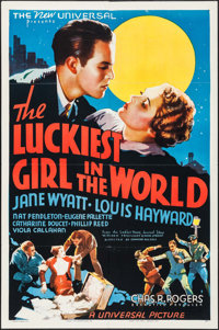 """The Luckiest Girl in the World (Universal, 1936). One Sheet (27"""" X 41""""). Comedy"""