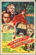 """Movie Posters:Mystery, The Man on the Eiffel Tower (RKO, 1949). One Sheet (27"""" X 41"""").Mystery.. ..."""