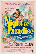 "Movie Posters:Comedy, A Night in Paradise (Universal, 1946). One Sheet (27"" X 41""). Comedy.. ..."