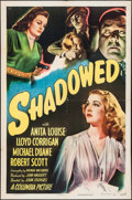 "Movie Posters:Film Noir, Shadowed (Columbia, 1946). One Sheet (27"" X 41""). Film Noir.. ..."