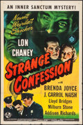 """Movie Posters:Horror, Strange Confession (Universal, 1945). One Sheet (27"""" X 41""""). Horror.. ..."""