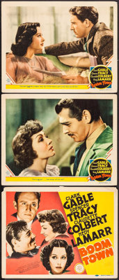 "Boom Town (MGM, 1940). Title Lobby Card & Lobby Cards (2) (11"" X 14""). Drama. ... (Total: 3 Items)"