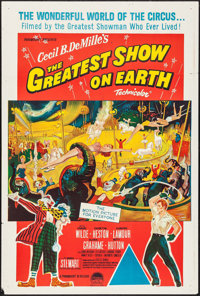 """The Greatest Show on Earth & Other Lot (Paramount, R-1960's). Australian One Sheet (27"""" X 40"""") & One S..."""