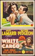 "Movie Posters:Drama, White Cargo (MGM, 1942). Title Lobby Card & Lobby Card (11"" X 14""). Drama.. ... (Total: 2 Items)"