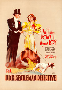 "After the Thin Man (MGM, 1936). Pre-War Belgian (16"" X 23"")"