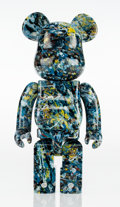 Fine Art - Sculpture, American:Contemporary (1950 to present), BE@RBRICK X Jackson Pollock Studio. Jackson Pollock 400%,2016. Painted cast resin. 11 x 5 x 4 inches (27.9 x 12.7 x 10....