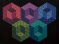 Prints & Multiples, Victor Vasarely (1906-1997). Hexa 5, from Official Arts Portfolio of the XXIVth Olympiad, Seoul, Korea, 1988. Silksc...