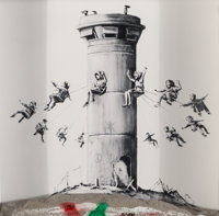Banksy (b. 1974) Walled Off Hotel Box, 2017 Lithograph with concrete 10 x 10 x 2 inches (25.4 x 2