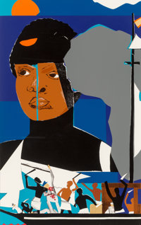 Romare Bearden (1911-1988) Slave Ship, 1977 Screenprint in colors on wove paper, with full margins